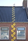 Advertising for roofing business, Garnwerd, Holland Royalty Free Stock Photos