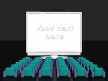 Advertising room, blank screen Royalty Free Stock Photography