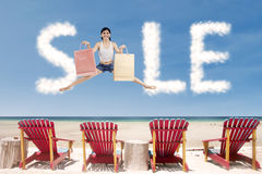 Advertising sale clouds Royalty Free Stock Photo