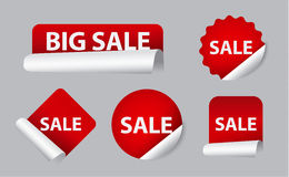 Advertising sale stickers Royalty Free Stock Photo