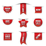 Advertising sale stickers vector illustration