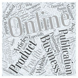 Advertising Self Promotion word cloud concept vector background Royalty Free Stock Images