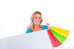 Advertising shops Royalty Free Stock Photo