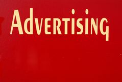 Advertising Sign Stock Photography