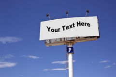 Advertising Sign - Add Text or Image. Blank advertising sign - Add your text or image to this space Royalty Free Stock Images