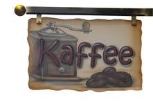 Advertising sign kaffee Royalty Free Stock Photo