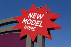 Advertising sign for new real estate Royalty Free Stock Image