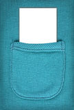 Advertising space on a clean sheet in a woolen pocket. for text. Royalty Free Stock Photo