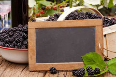 Advertising space on a slate blackboard Royalty Free Stock Images