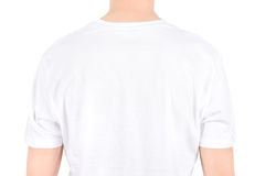 Advertising space on a white t-shirt royalty free stock image