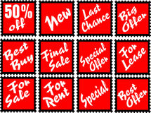 Advertising stamps Stock Photos