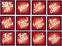 Advertising stamps Stock Photo