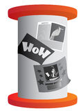 Advertising stand. With posters on it Royalty Free Stock Images