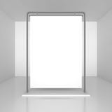 Advertising stand banner frame with blank space Royalty Free Stock Photography