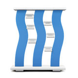 Advertising stand with blue accents. 3d. Stock Images