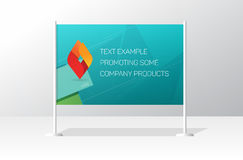 Advertising stand board banner template, signboard advertisement billboard. Advertising stand board banner template, sign board mockup, advertisement signboard royalty free illustration