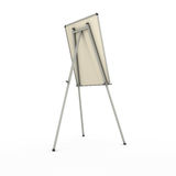 Advertising stand or easel back view isolated on white backgroun Stock Image