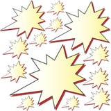 Advertising stars vector illustration