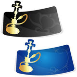 Advertising sticker for hookah Stock Photography