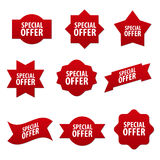 Advertising stickers and banners Royalty Free Stock Image