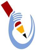 Advertising studio logo. Isolated line art advertising logo design Royalty Free Stock Photos