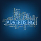 Advertising Tag Cloud Royalty Free Stock Photography