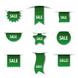 Advertising tags green colors Stock Photo