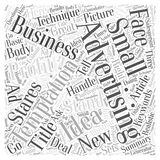 Advertising Temptations How Small Businesses Can Handle Them word cloud concept  background Stock Photography
