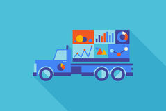 Advertising truck with statistics Royalty Free Stock Images