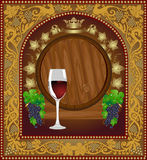 Advertising wine beer banner barrel Stock Image