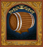 Advertising wine beer banner barrel Royalty Free Stock Images