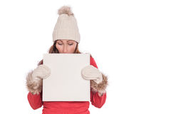 Advertising winter Stock Images