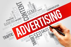 ADVERTISING. Word cloud, business concept Royalty Free Stock Photos