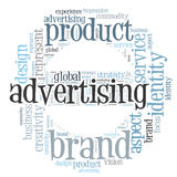 Advertising word cloud Royalty Free Stock Image