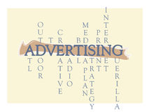 Advertising Word Graphic Royalty Free Stock Images