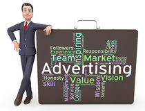Advertising Wordcloud Means Advertisements Promotion And Adverti Stock Image