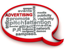 Advertising words Royalty Free Stock Image