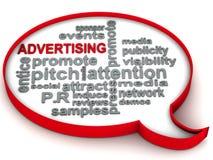 Advertising words royalty free illustration