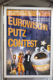 advertisinguses de la limpieza de la ciudad de los viennas el festival europeo de la canción Foto de archivo