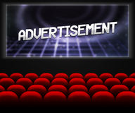 Advertisment in Cinema Background Royalty Free Stock Photos