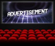 Advertisment in Cinema Background. Advertisment in Empty Cinema Background Royalty Free Stock Photos