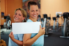 Advertisment for women fitness Royalty Free Stock Image