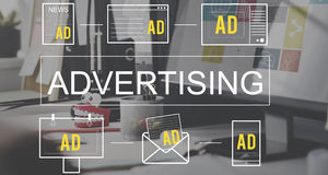 Advertisting Commercial Marketing Digital Branding Concept royalty free stock images