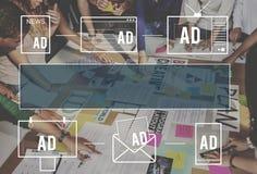 Advertisting Commercieel Marketing Digitaal het Brandmerken Concept vector illustratie