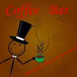 Advertizing banner coffee. Royalty Free Stock Photography