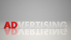 Advertizing_red_white_3D Imagem de Stock Royalty Free