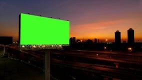 Advertizingaffischtavla, grön skärm arkivfilmer