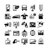 Advertizingsymboler royaltyfri illustrationer