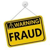 Advertência da fraude Foto de Stock Royalty Free