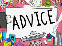 Advice Advisor Consultant Support Assistance Concept Stock Image